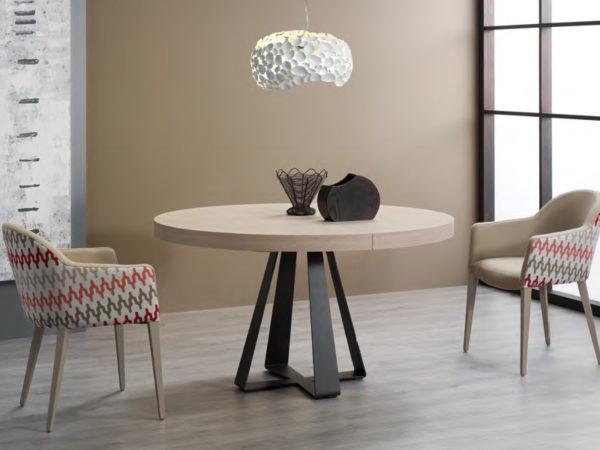 Mesa redonda de comedor extensible «Aura» | Muebles Vázquez